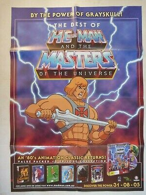 HE-MAN MASTERS OF THE UNIVERSE promotional POSTER from DVD collection release