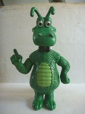vintage ST GEORGE BANK mascot HAPPY DRAGON large promotional vinyl toy figure HK