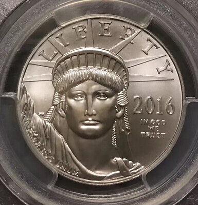 2016 Statue of Liberty Platinum Eagle $100 MS70 PCGS First Strike Gold Foil