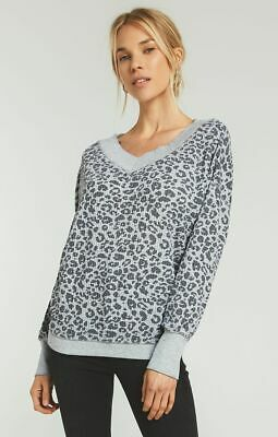 Z Supply Women's The Emilia Thermal V Neck Leopard  Size Xs, S, M, L Nwt