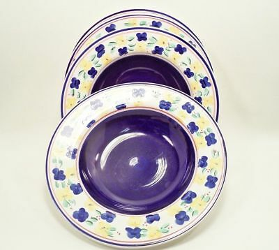VERANDA by Tabletops Unlimited China 4 Rim Soup Cereal Bowls