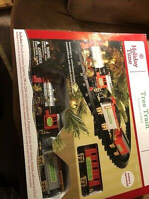 Holiday Time Christmas Tree Train Battery Operated Nib