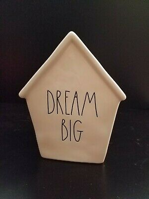 Rae Dunn By Magenta Ceramic DREAM BIG Piggy Bank Birdhouse RARE NEW