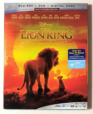The Lion King Blu-ray + DVD + Digital Code (2019) NEW & SEALED - W/SLIPCOVER