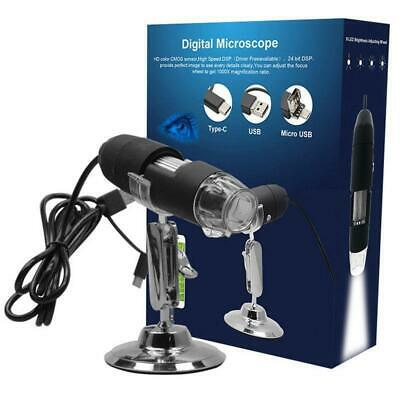 500-1600X USB Digital Microscope Magnifier Endoscope Camera For Phone/PC/Tablet