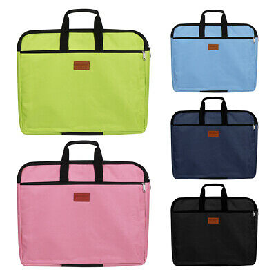 Capacity Waterproof  With Handle Double Layers Handbag File Folder Files Bag