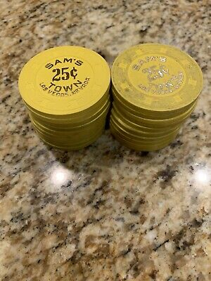 20 Chip Lot of Sam's Town Las Vegas Casino .25 Cent Fractional Chips