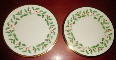 """Lenox Holiday Dimensions China Bread and Butter Plate-24k Gold Trim-6 3/8"""" wide"""
