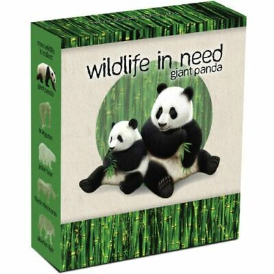 2011 Tuvalu Wildlife in Need: Giant Panda 1oz Silver ( .999 ) $1 Proof coin