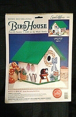 Vintage Paint-By-Number Bird House Kit - Kitty's House