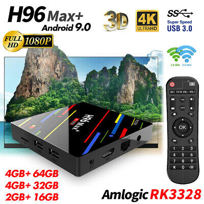 H96 Max+ Android 9.0 4K TV Box RK3328 Penta-Core HDR10 WiFi 2.4G/5G Media Player