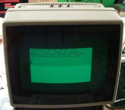 BMC 12in green screen composite monochrome monitor for vintage computer