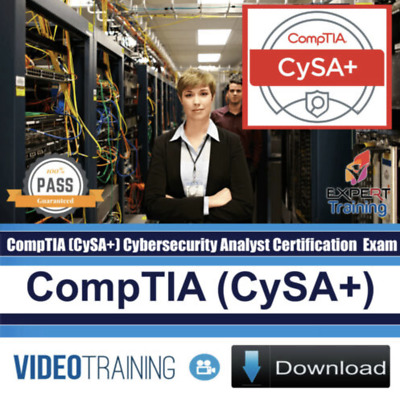 CompTIA CySA+ Cybersecurity Analyst Plus CS0-001 Training Videos and Exam Guide