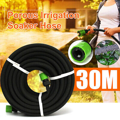 15M FLEXIBLE PERFORATED GARDEN SOAKER IRRIGATION HOSE PIPE PLANT LAWN WATERING