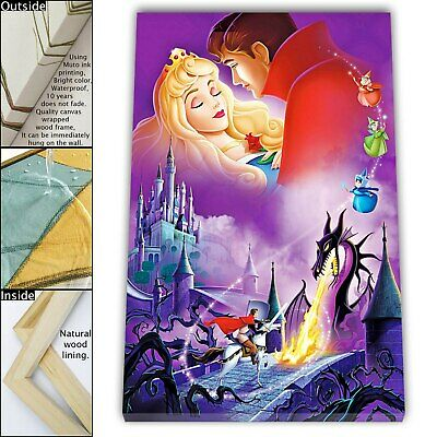 "16""x22""Disney HD Canvas prints Painting Home Decor Picture Room Wall art Poster"