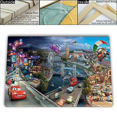 """16""""x26""""Film 2011 Movie Cars 2 HD Canvas Prints Home Room Decor Wall art picture"""