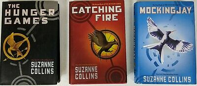 Hunger Games Trilogy. The Hunger Games, Cathing Fire, Mockingjay. HC. (XY)