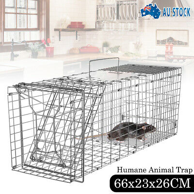 AU TRAP Humane Possum Feral Cat Rabbit Bird Animal Dog Hare Fox Cage Live Catch
