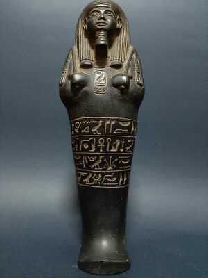 ANCIENT EGYPTIAN ANTIQUES USHABTI With HIEROGLYPHICS Servant Ramses ii EGYPT BC