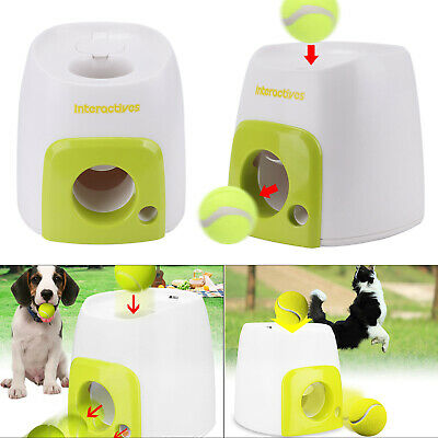 Automatic Pet Dog Launcher Tennis Ball Toy Fetch Hyper Training Game UK