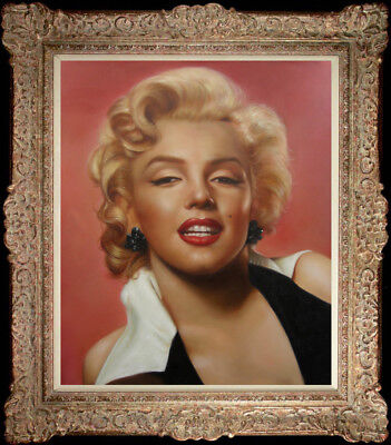 "Hand-painted Original Oil Painting portrait art Marilyn Monroe On Canvas 20""X24"""