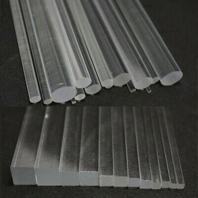 4mm Acrylic Plastic Round Rod Bar Clear Various Lengths 50mm up to 600mm long