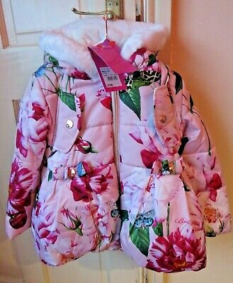 Ted Baker Bright Floral , Girls Coat & Matching Backpack Age 3-4 Bnwt