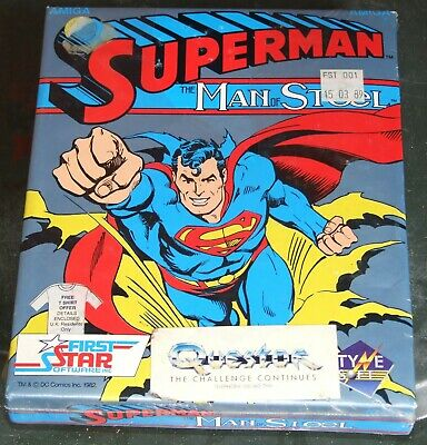 Superman The Man Of Steel game for the Commodore Amiga vintage computer