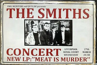 The Smiths Concert Vintage Retro Style Metal Sign Poster Home Decor