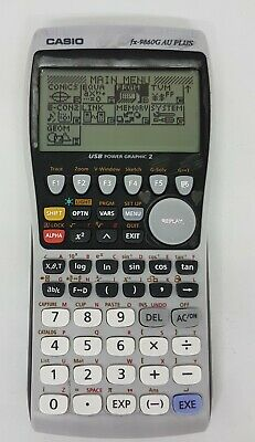 CASIO fx-9860G AU Plus Graphics Calculator  USB Power Graphic 2 with Slide Cover