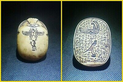 EGYPTIAN ANTIQUES ANTIQUITY Scarab Beetle Khepri Figure Sculpture 1549-1165 BC