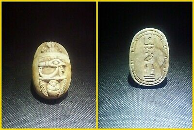 EGYPTIAN ANTIQUES ANTIQUITY Scarab Beetle Khepri Figure Sculpture 1549-1178 BC