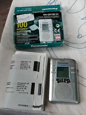 Panasonic Rr-Qr100 Digital Voice Recorder - Paranormal / Evp / Ghost Hunting