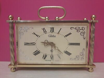 USSR Soviet Russia vintage table clock Slava. Original