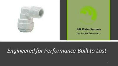 """John Guest RO Male Elbow Water Fitting (1/4"""" QC x 1/4"""" NPT)"""