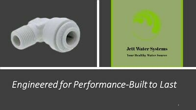 "John Guest RO Male Elbow Water Fitting (1/4"" QC x 1/8"" NPT)"