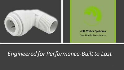 """John Guest RO Male Elbow Water Fitting (3/8"""" QC x 1/4"""" NPT)"""