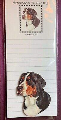 Greater Swiss Mountain Dog Notepad and Wood Magnet