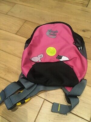 Bushbaby Minipack Toddler BackPack Girls Safety Pack Pink and Black
