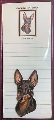 Manchester Terrier Notepad and Wood Magnet