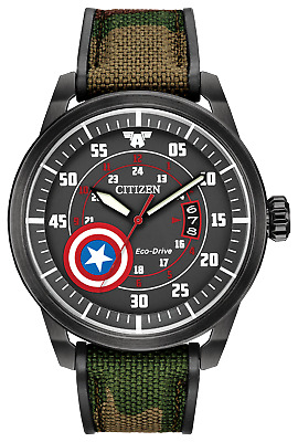 NEW 2009 CITIZEN Marvel Captain America Eco-Drive Watch with Warranty & Box