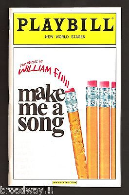 "Music of William Finn ""MAKE ME A SONG"" Adam Heller 2007 Off-Broadway Playbill"