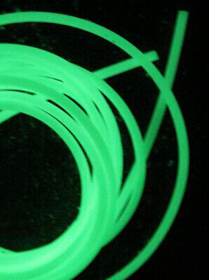 Glow in the Dark Luminous Silicone Fishing Rig Tubing 1.0mm Bore X 2mtrs