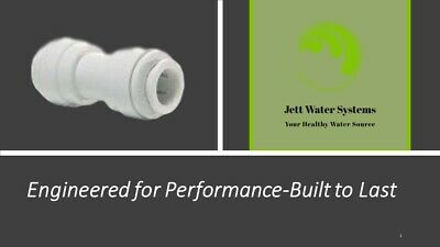 """John Guest RO Straight Union Connector Water Fitting (1/4"""" QC x 1/4"""" QC)"""
