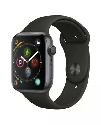 Apple Watch Series 4 44mm Space Grey + Black Sports Band - GPS