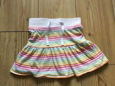 Next Girls' reversible striped/ floral skirt (5 yrs), pre-owned.