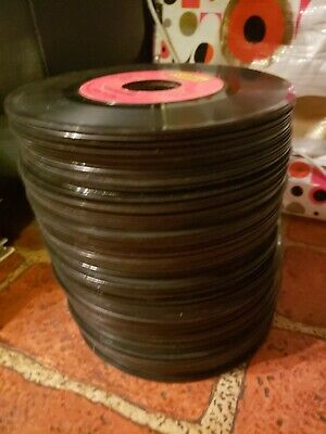 """Lot Of 5 Random 7"""" Records Used Scratched 45RPM 60s 70s Rock Pop Folk"""