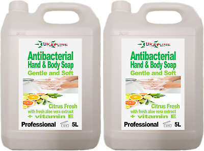 2 x 5L Ukayline Professional Antibacterial Hand and Body Soap for Dispensers