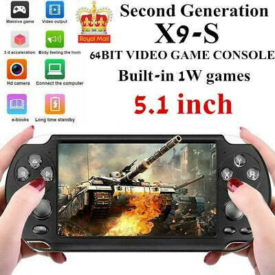 """X9S 8G 64Bit 5.1"""" PSP Portable Handheld Classic Game Console Player Video XMAS"""