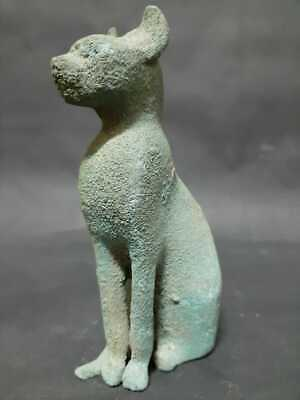 RARE ANCIENT EGYPTIAN ANTIQUES BASTET Cat Goddess Pharaoh Ubasti -Cat Statue BC